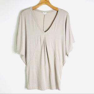Wildfred Aritzia v neck sleeve shirt top drape